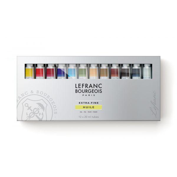Set de 12 tubes de peinture à l'huile extra-fine - Lefranc & Bourgeois