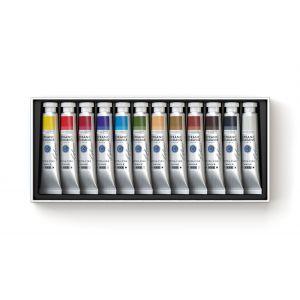 Assortiment de 12 couleurs à l'huile extra-fine Lefranc Bourgeois