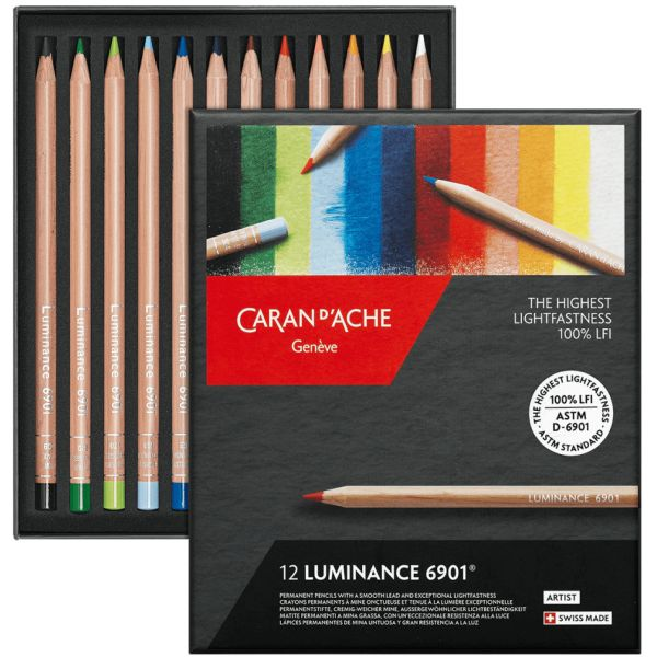 Boîte de 12 crayons Luminance 6901 - Caran d'Ache