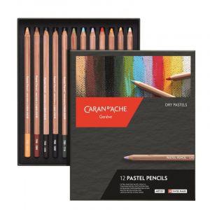 Boîte de 12 crayons pastels Caran d'Ache