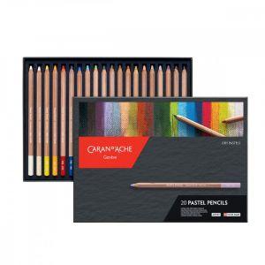 Boîte de 20 crayons pastels Caran d'Ache