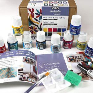 Coffret atelier Sétacolor, peinture sur tissu - Pébéo