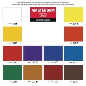 Palette de 12 couleurs extra-fines Amsterdam Expert