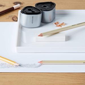 Taille crayon triple coupe avec réservoir de Faber-Castell