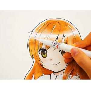 feutre pinceau manga encre blanche Kuretake Zig