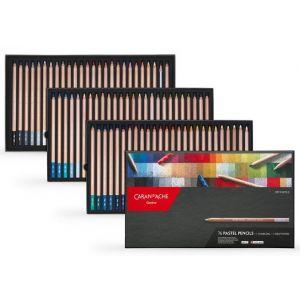 Boîte de 76 crayons pastels Caran d'Ache