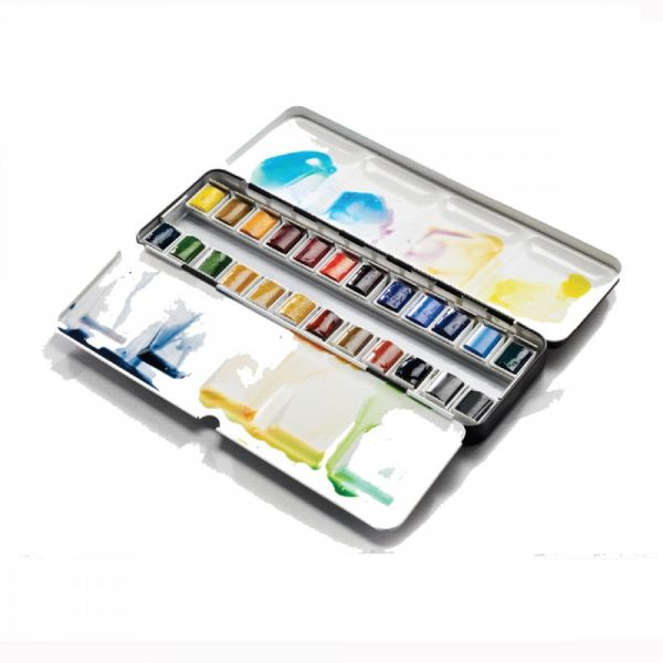 Boîte d'aquarelle extra-fine - 24 demi-godets - Winsor & Newton