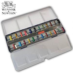 Boîte d'aquarelle Cotman Blue Box - 24 demi-godets - Winsor & Newton