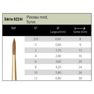 Pinceaux Syrus - rond 6224i - Isabey