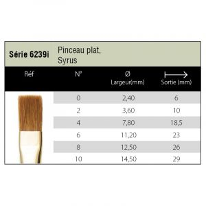 Pinceaux Syrus - plat 6239i - Isabey
