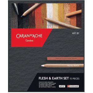 Set dessin - Terre et chair - Caran d'Ache