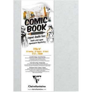 Carnet Comic Book - Layout double face - Clairefontaine