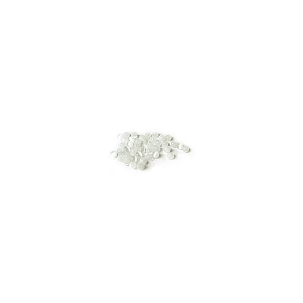 Perle Œil de Chat - Blanc