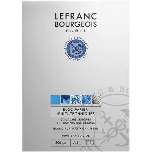 Bloc papier pour gouache - A4 300gr - Lefranc & Bourgeois