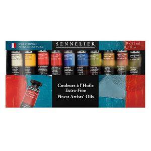 Set de 10 tubes de peinture à l'huile extra-fine - Sennelier