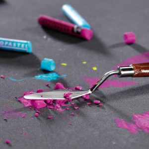 Pastel à l'huile Neopastel écrasé au couteau