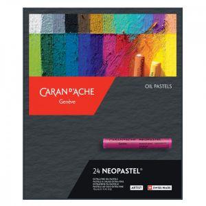 Boîte carton contenant 24 pastels à l'huile Neopastel - Caran d'Ache