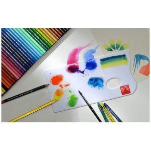 Palette pour les mélanges à l'aquarelle