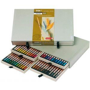 Coffret de 48 crayons pastels - Bruynzeel