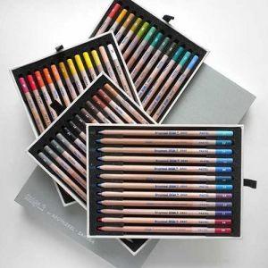 Coffret à tiroirs de rangement pour 48 crayons pastels secs