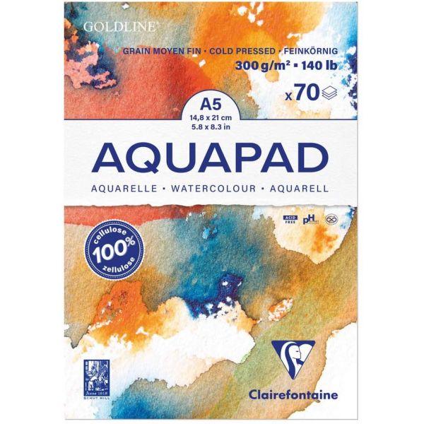 Bloc a5 aquarelle Aquapad Clairefontaine