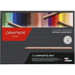 20 crayons Luminance 6901 -  Assortiment portrait - Caran d'Ache