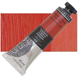 Peinture à l'huile rouge Sennelier