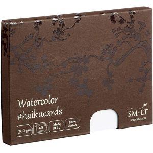 Cartes Haïku - Aquarelle 100% coton - 24 feuilles 300gr