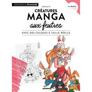 Créatures manga aux feutres - Livre