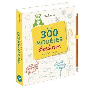 Mes 300 modèles à dessiner en pas à pas - Livre