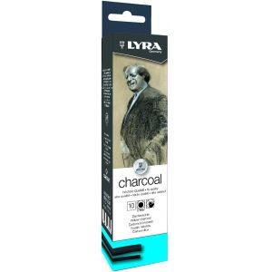 Etui de 10 fusains assortis Lyra + Bloc dessin offert !