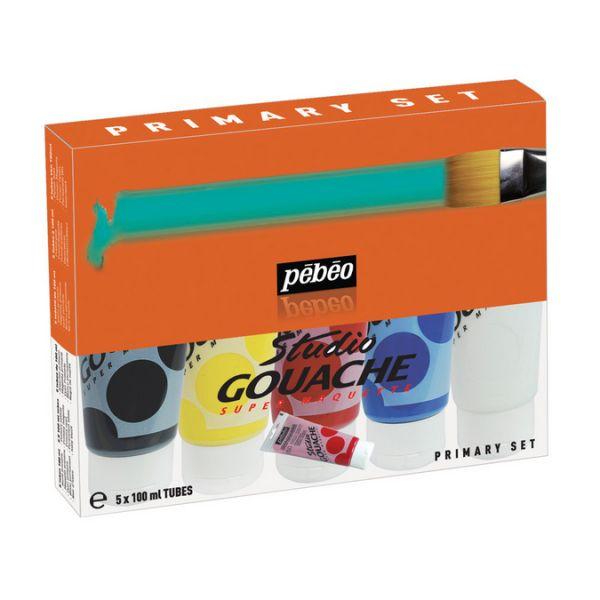 Pack de 5 tubes Studio Gouache 150ml - OFFRE 250ml gratuit !