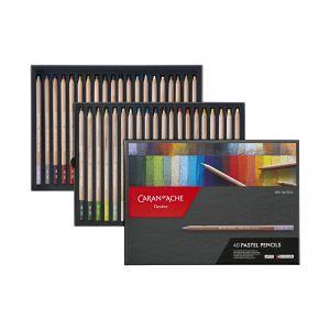 Boîte de 40 crayons pastels Caran d'Ache