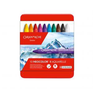 Boîte de 12 craie aquarellable Neocolor II - Caran d'Ache