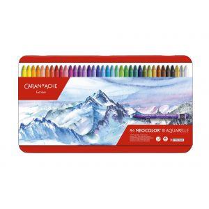 Boîte de 84 craie aquarellable Neocolor II - Caran d'Ache
