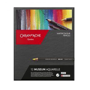 Boîte de 12 crayons aquarelle Museum - Caran d'Ache