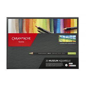 Boîte de 20 crayons aquarelle Museum - Paysage - Caran d'Ache