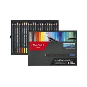 Boîte de 20 crayons aquarelle Museum - Marine - Caran d'Ache