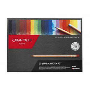 Boîte de 20 crayons Luminance 6901 - Caran d'Ache