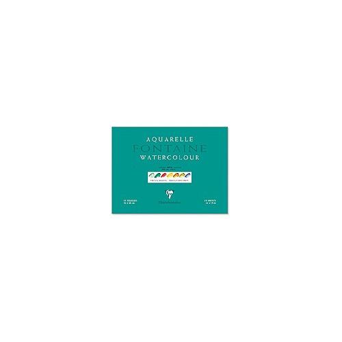 Papier Aquarelle Fontaine - grain torchon 300g - Clairefontaine