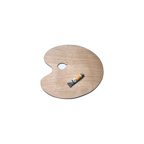 Palette de peinture ovale en bois for Peinture palette bois
