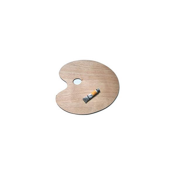 Palette de peinture ovale en bois