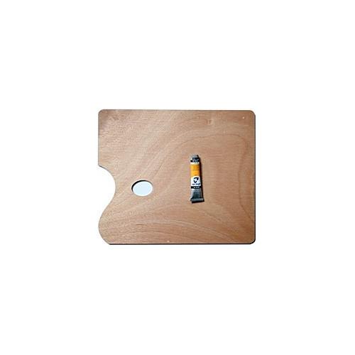palette de peinture en bois rectangle. Black Bedroom Furniture Sets. Home Design Ideas