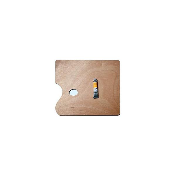 Palette de peinture en bois rectangle