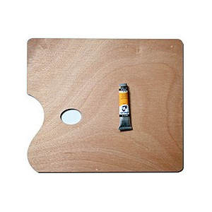 Palette de peinture en bois rectangle