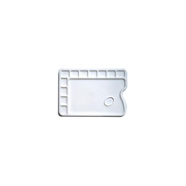 Palette de peintre en plastique rectangulaire - 12 cases