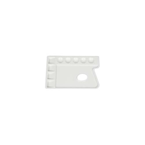 Palette de peintre en plastique rectangulaire - 9 cases