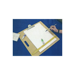 Planche à dessin avec pince métal