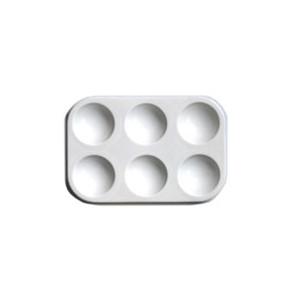 Palette de peinture en plastique - 6 cases