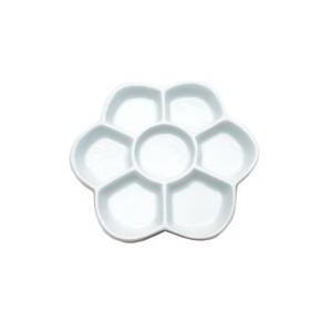 Palette de peinture en porcelaine ronde - 6 cases